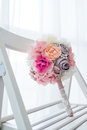 Wedding bouquet chair Stock Photos