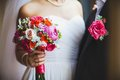 Wedding bouquet close up of Stock Photography