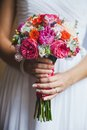 Wedding bouquet close up of Royalty Free Stock Images