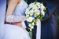 Wedding bouquet close up of Royalty Free Stock Photo