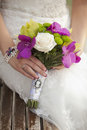 Wedding bouquet closeup Stock Images