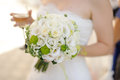 Wedding bouquet closeup of white flower Stock Photo