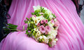 Wedding bouquet with fresia flowers Stock Photos