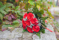 Wedding bouquet in hands of the brid beautiful bride Royalty Free Stock Photo