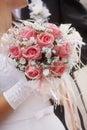 Wedding Bouquet In Hands Of Th...