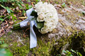 Wedding bouquet with lock Royalty Free Stock Photo