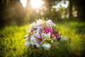 Wedding bouquet on the meadow Royalty Free Stock Photo