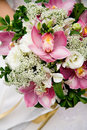 Wedding Bouquet of orchids Royalty Free Stock Photo