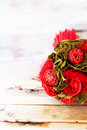 Wedding bouquet photo of with roses Royalty Free Stock Photos