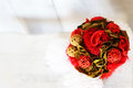 Wedding bouquet photo of with roses Royalty Free Stock Photography