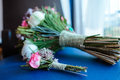 Wedding bouquet with pink flowers Royalty Free Stock Photo