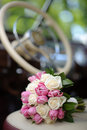Wedding bouquet with pink tulip Stock Photo
