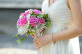 Wedding bouquet of pink and white flowers Stock Images
