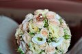 Wedding bouquet of pink and white roses Stock Photography