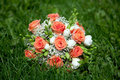 Wedding bouquet of  roses Royalty Free Stock Photography