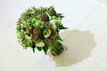 Wedding bouquet table Royalty Free Stock Photo
