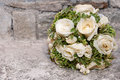 Wedding bouquet a with white roses Royalty Free Stock Photos