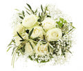 Wedding bouquet of white roses Royalty Free Stock Images