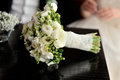 Wedding bouquet white on the table Royalty Free Stock Photos