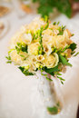 Wedding bouquet in yellow Stock Images