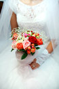 Wedding bridal bouquet - Stock Image