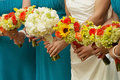 Wedding bridal bouquets Royalty Free Stock Photos