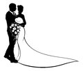 Wedding Bride and Groom Silhouette Royalty Free Stock Photo