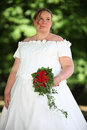 Wedding bride outdoor Stock Photos