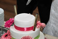 Wedding cake beautiful and delicious Royalty Free Stock Photography