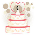 Wedding Cake Bride and Groom  Royalty Free Stock Photos