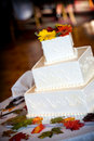 Wedding cake decorated with an autumn theme Royalty Free Stock Photos