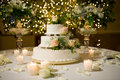 Wedding Cake On The Decorated ...