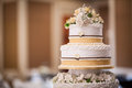 Wedding cake details Royalty Free Stock Photo