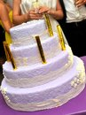 Wedding cake an elegant purple copy space Royalty Free Stock Photo