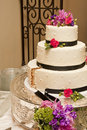 Wedding Cake After First Slice Stock Images