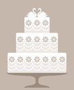Wedding cake isolated objects vector illustration eps Stock Image