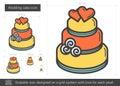 Wedding cake line icon.