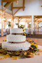 Wedding cake with lots of details Stock Photo