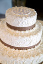 Wedding cake with lots of details Royalty Free Stock Image