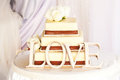 Wedding cake and love Royalty Free Stock Photo