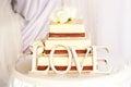 Wedding cake and love Royalty Free Stock Photo
