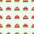 Wedding cake pie sweets dessert bakery flat seamless pattern pastry homemade delicious vector illustration.