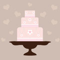 Wedding Cake - Pink Stock Photo