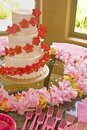 Wedding Cake In Pink and Red Royalty Free Stock Photo