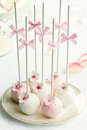 Wedding cake pops Stock Image