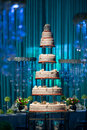 Wedding cake a tiered at Stock Photos