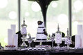 Wedding cake a tiered at Royalty Free Stock Photography