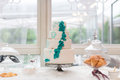 Wedding cake a tiered at Royalty Free Stock Images