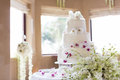 Wedding cake a tiered at Stock Image