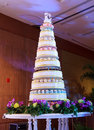 Wedding cakes and stage luxury indoors with party Royalty Free Stock Photo